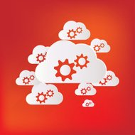 Cloud application settings web icon