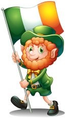 old man with the flag of Ireland