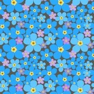 Forget-me-not - seamless pattern