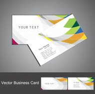 abstract rainbow colorful mosaic business card set