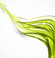 abstract green wire line wave technology vector white background