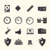 Infrastructure management icons.