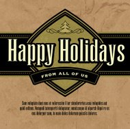 Happy Holidays greeting design template