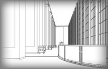 architectural structure of buildings. Vector