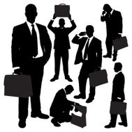 Businessmen with Briefcase Series