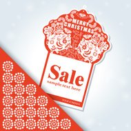 Christmas red banner for sale