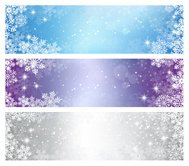 Vinter jul Banners