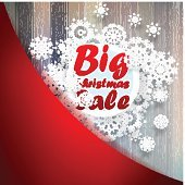 Christmas snowflakes with big sale. + EPS10