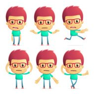 casual man in various poses