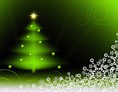 Green  christmas background .