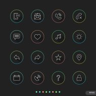 Web & Mobile thin icon sets # 9