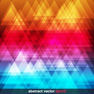 Abstract Rainbow Triangles Background