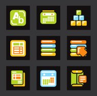 Color Icon Series - Database Icons