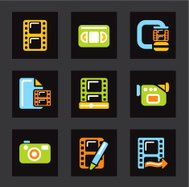 Color Icon Series - Media Icons