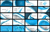 abstract Various Business Card set collection vector illustratio