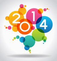 Colorful 2014 New Years vector illustration
