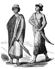 Antique illustration of people from Congo