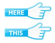 Mouse hand cursor vector this here pointer labels
