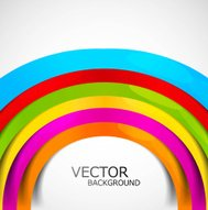 Abstract colorful rainbow circle wave white background vector