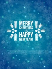 Merry Christmas and Happy New Year Card 2014