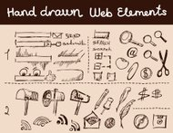 Doodles set for web site design
