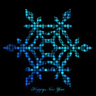 Vector illustration of snowflake from disco lights