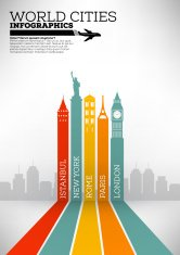 Cidades do mundo Infographic Design