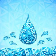 Water triangular drops ecology abstract concept