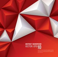 Red and white vector geometric background