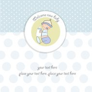 new baby announcement card with kid