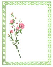 Green Victorian border with roses