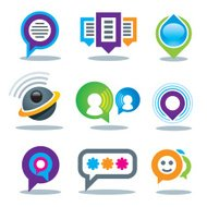 Communication of social people in world logo community media