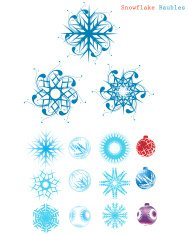 Snowflake & Christmas Baubles set