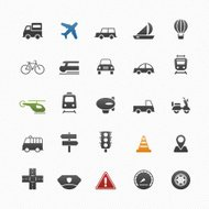 transport and traffic vector symbol icon set