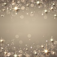 Christmas golden starry background.