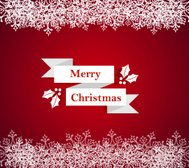 Merry Christmas snowflake border illustration