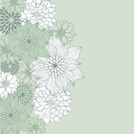Abstract floral background. Vector flower element for design.