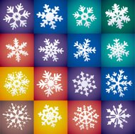 Set of decorative Christmas snowflake in vector