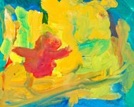 children drawing - abstract painting background