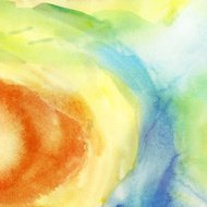 Painted colorful watercolor background. Spring and  summer theme