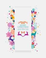 Merry Christmas colorful 3D banner