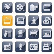 mass media icons | glossy series