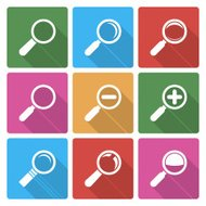 Magnifier Glass Icons wiht shadow