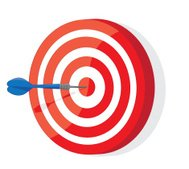 Red and White darts target