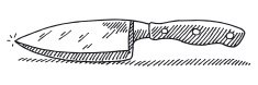 Kitchen Knife Side View Drawing