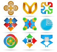 Abstract icons. Set of geometric icons for design