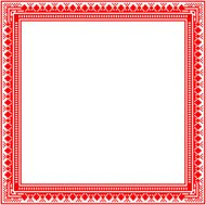 Unique knitted frame with geometric ornament