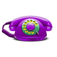 retro stylized telephone