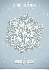 White 3D stylised snowflake