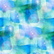 sun glare abstract seamless blue, green painted watercolor backg